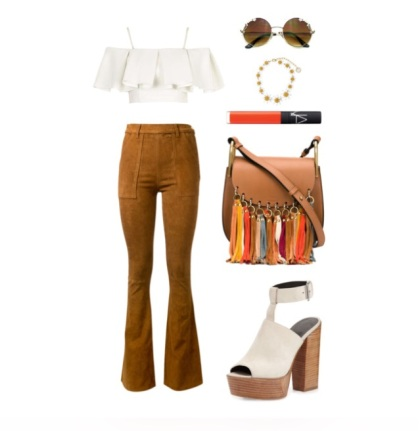 Outfit flared trousers 2