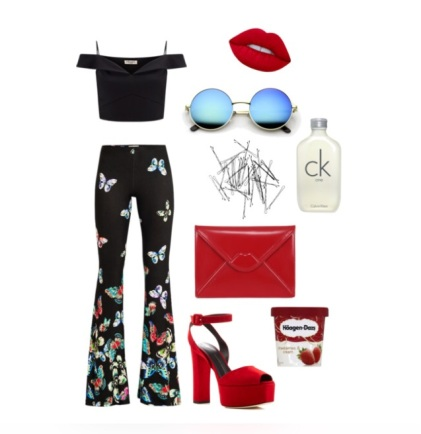 Outfit flared trousers 3