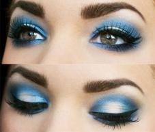 Blue eyeshadow 3