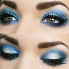 Blue eyeshadow 3